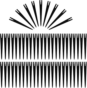 50 Pcs Plastic Irrigation Support Stakes for 1/4-Inch Universal Drip Tubing Hold Stakes for Irrigation, Heavy Duty Support Stakes for 4/7mm and 3/5mm Irrigation Hose Garden Watering System, 6-Inch
