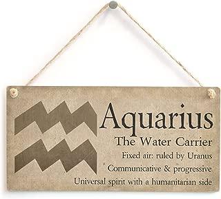 Meijiafei Aquarius The Water Carrier - Beautiful Spiritual Gift Astrology Sign of The Zodiac Plaque 10