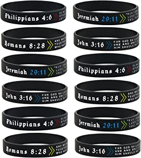 Ezekiel Gift Co... (12-Pack Popular Bible Verses Bracelet Mix - Wholesale Christian Jewelry Products in Bulk Lot