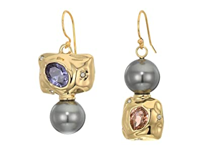 Alexis Bittar Mismatched Crumpled Wire Earrings (10K Gold) Earring