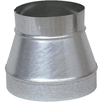 """Single Wall Galvanized Metal Duct Reducer 10"""" to 8"""" / 10"""" x 8"""""""