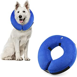 Dog Cone Collar Soft - Protective Inflatable Cone Collar for Dogs and Cats, Soft Pet Recovery E-Collar Cone Small Medium Large Dogs, Designed to Prevent Pets from Touching Stitches