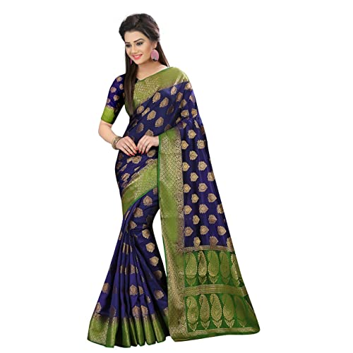 853a58611c Designer Sarees Woven Work Banarasi Art Silk Saree for women With  Unstitched Blouse Piece