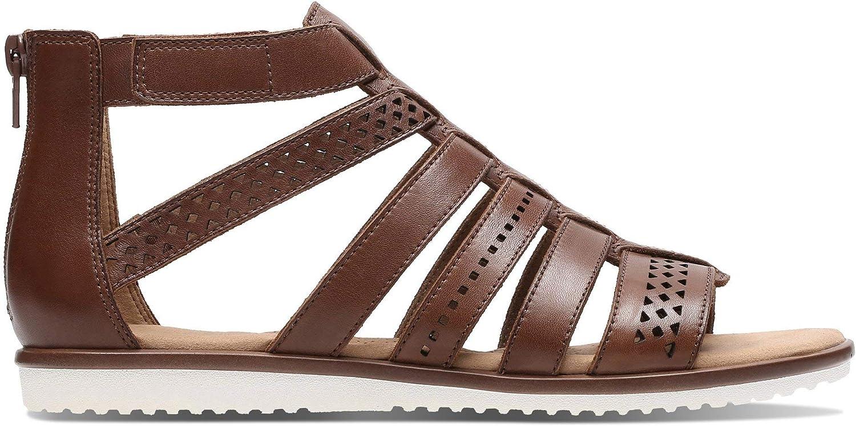 Clarks Mens Kele Lotus Brown Sandals 6