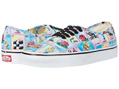 Vans Authentictm ((Los Vans) Multi/True White) Skate Shoes