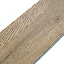 Diflart Walnut Wood 23.6 sq.ft Luxury Vinyl Click Locking Plank Flooring 48x7 inch Lvt Flooring Waterproof Foam Back Rigid Core Wood Grain Finish Pack of 10