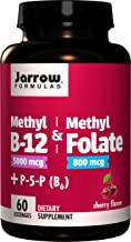 Jarrow Formulas Methyl B-12 & Methylfolate + P5P (B6) Lozenges, Cherry, 60 Count