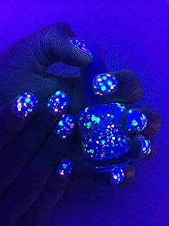 Get Breezy-Color Changing UV Blacklight Thermal Nail Polish: Custom-Blended Indie Glitter Nail Polish / Lacquer