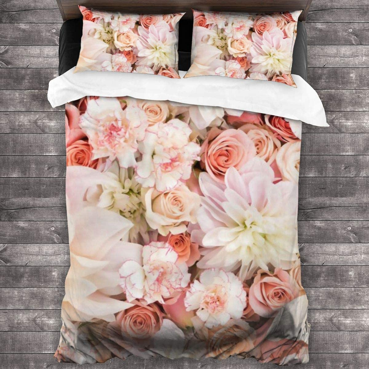 AUISS 3 Piece Bedding Set ! Super beauty product restock quality top! Flower Quilt Max 78% OFF Cover Bedroom Comforters