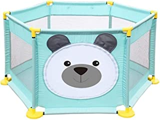 Newborn Play mat fence,Baby Playpen Safety Fence 6 Panel Kids Activity Center Room Fitted Floor Mats For Babies/Toddler/In...