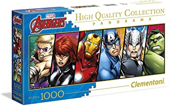 Marvel Heroes 1000 Piece Professional Panorama Collection Puzzle Featuring Hawkeye Iron Man Captain America Thor Hulk Ages 14 - Adult