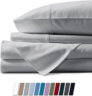 Mayfair Linen 1000 Thread Count Best Bed Sheets 100% Egyptian Cotton Sheets Set - Silver Long-Staple Cotton King Sheet for Bed, Fits Mattress Upto 18'' Deep Pocket, Soft & Silky Sateen Weave Sheets