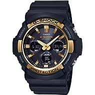 Casio G-Shock GAS100G-1A Tough Solar Resin/Stainless Steel Men's Watch (Black)