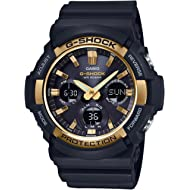 G-Shock GAS100G-1A Tough Solar Resin/Stainless Steel Men's Watch (Black)