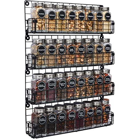 X-cosrack Étagère à Épices Organisateur D'Porte-Épices Suspendus Empilable à 4 Niveaux,Idéal pour Le Rangement de La Maison Et de la Cuisine (Brevet en Instance)
