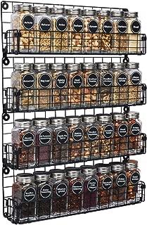 spice racks wall