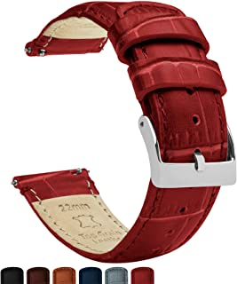 Best Barton Alligator Grain - Quick Release Leather Watch Bands - Choose Color, Length & Width - 16mm, 18mm, 19mm, 20mm, 21mm, 22mm, 23mm, or 24mm Standard or Long Reviews