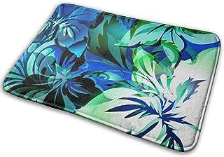 BLSYP Exotic Animal Like Tropical Jungle Floral Print with and Color Highlights Alfombrilla para Puerta Alfombrillas para ...