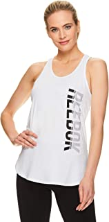 Reebok Women's Running & Workout Tank Top - Legend Performance Singlet Racerback Exercise Shirt