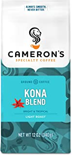 Cameron's Coffee Roasted Ground Coffee Bag, Kona Blend, 12 Ounce