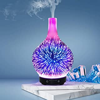 Aroma Aromatherapy Diffuser 3D LED Light Essential Oil Firework Shooting Stars Air Humidifier Purifier Ultrasonic Cool Mis...