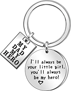 JJIA Dad Gifts Keychain Key Chain Keyring for Dad Father Daddy Papa from Daughter Christmas Birthday Thanksgiving Gift, Si...