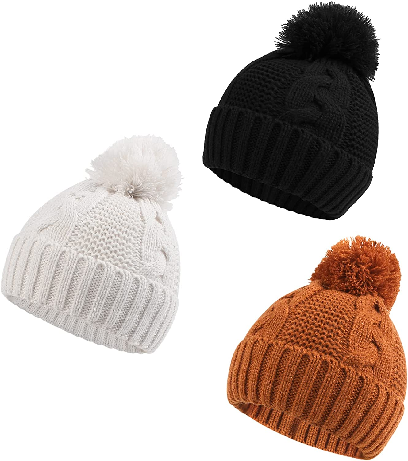 Zsedrut Baby Girls Winter San Special sale item Jose Mall Hat Infant W Twist Weather Beanie Cold