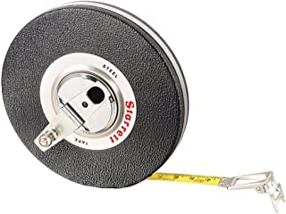 Starrett 530-30CM Vinyl/Steel Case Black Closed Reel Steel Long Tape, Metric Graduation Style, 30m Length, 9.5mm Width, 1mm Graduation Interval