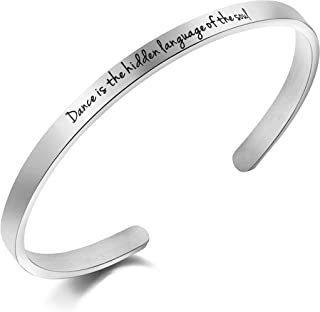 MEMGIFT Encouragement Women Cuff Bracelet Gift Jewelry Inspirational Mantra Bangle Personalized Jewelry Gifts Her Girls