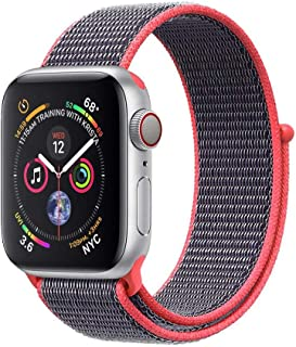 Promate Sports Loop Band for Apple Watch 42mm/44mm, Premium Nylon Weave Mesh Band with Dense Loop and Adjustable Wrist Str...