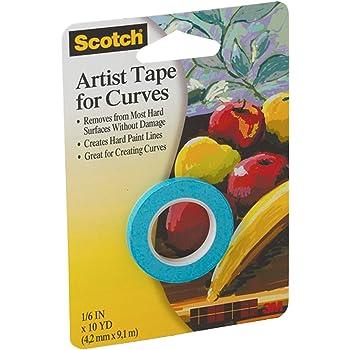 """3M Scotch FA2038 1/8-Inch Artist Curves Tape, 1/8"""" x 10 Yard Roll, Original Version"""