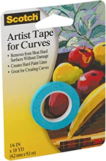 3M Scotch Artist Tape For Curves-.125-inch x 10yd, Other, Multicoloured
