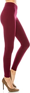Cotton Spandex Basic Leggings Pants- Jersey Full or Capri Regular and Plus Size