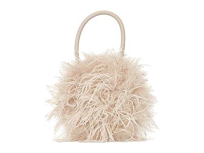 Loeffler Randall Zadie Feather Circle Tote (Oyster/Silver) Tote Handbags