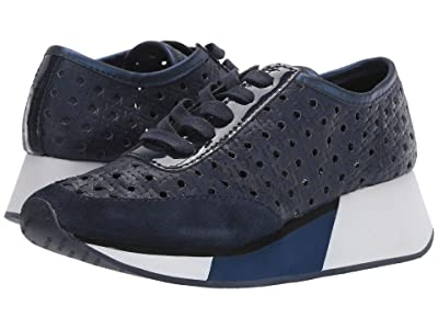 Donald J Pliner Prit (Navy Woven Leather) Women