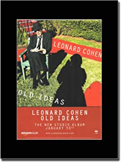 gasolinerainbows - Leonard Cohen - Old Ideas - Matted Mounted Magazine Promotional Artwork on a Black Mount