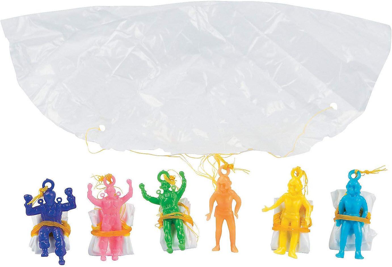Fun Express - Mini Vinyl Paratroopers (6dz) - Toys - Character T