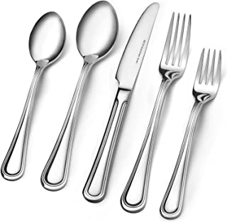 Consistent Quality 18/10 Stainless Steel Flatware 20-Piece Set, Extra Thick Heay Duty - Flatware Set for 4, Dishwasher Safe
