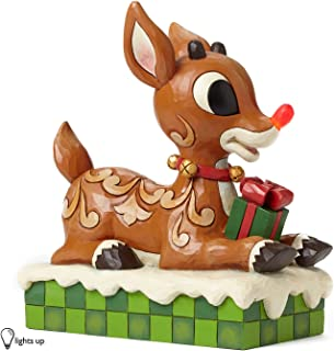 Jim Shore for Enesco Large Rudolph with Lifted Nose Figurine, 8.9