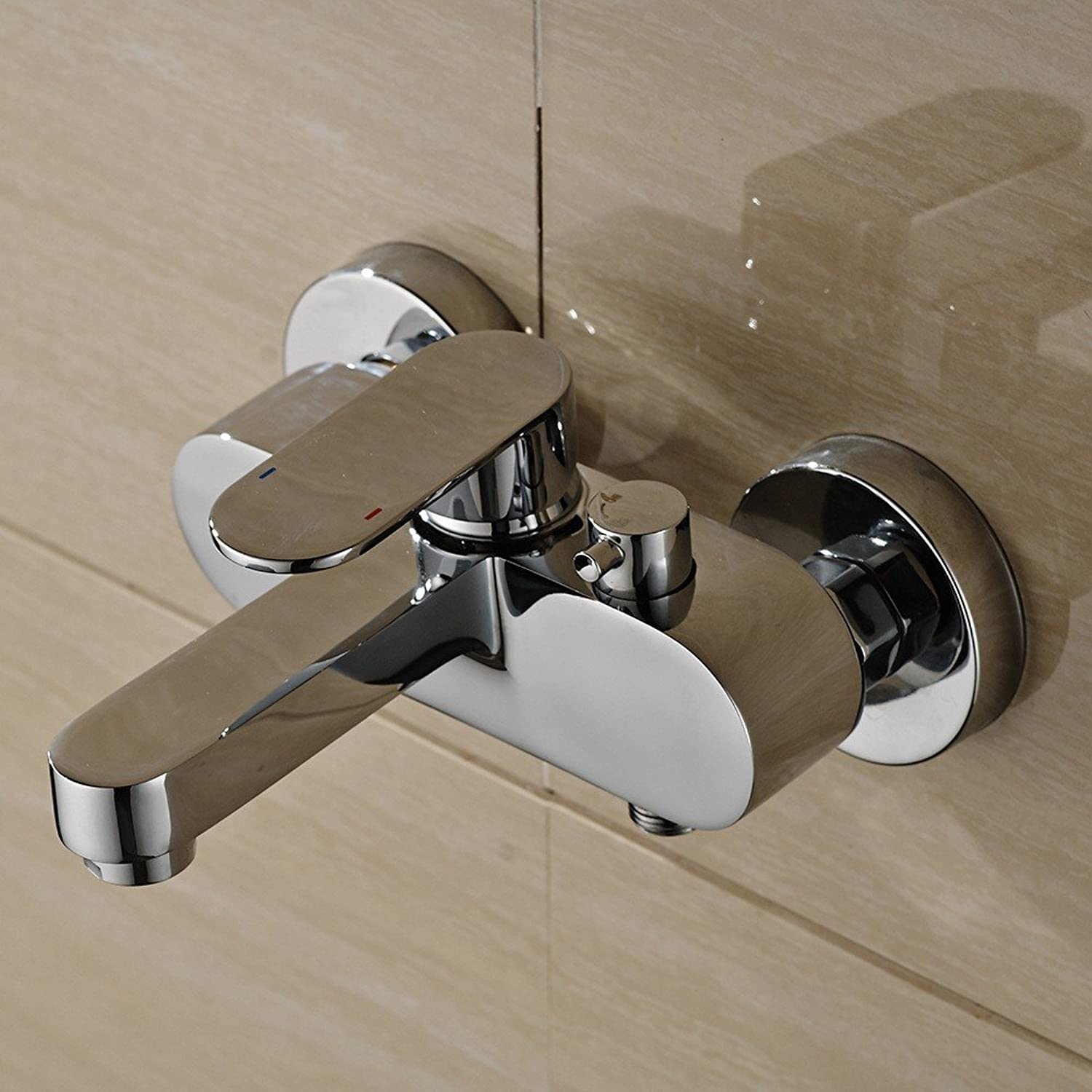 Bathroom shower faucet copper hot and cold water mixing valve simple bathroom wall-mounted