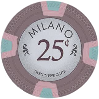 Claysmith Gaming Milano Casino Grade Clay Poker Chip 10-Gram – Pack of 50