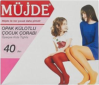 Müjde Kız Çocuk Opak Külotlu Çorap, 8'li Paket