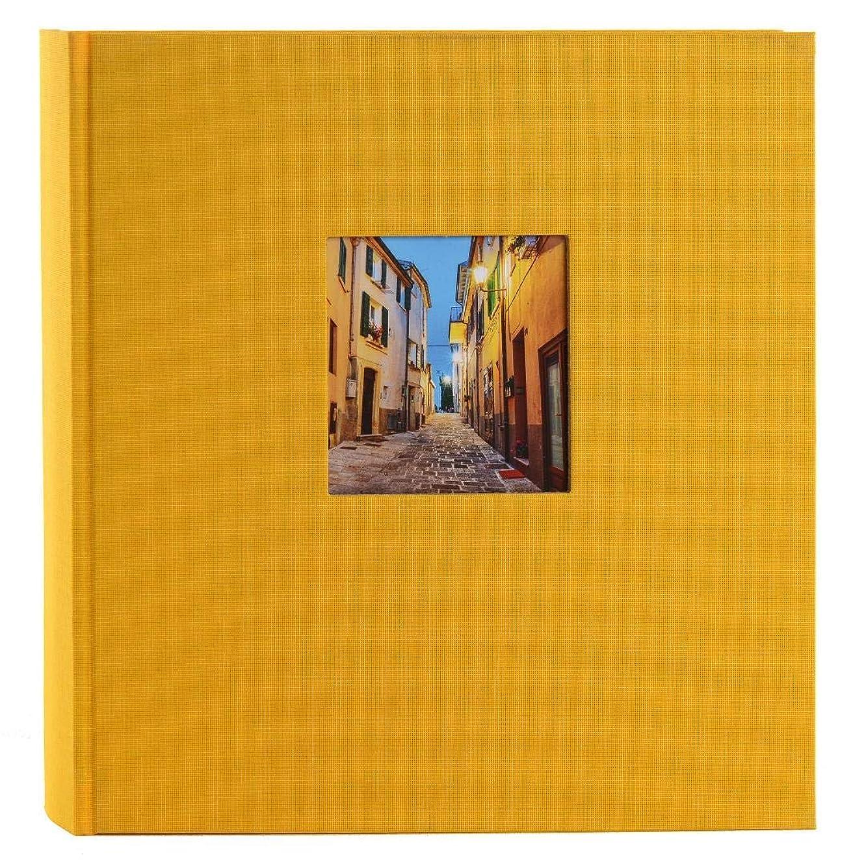 Goldbuch Photo Album with Window Cut-Out, Cardboard, Yellow, 30 x 31 cm
