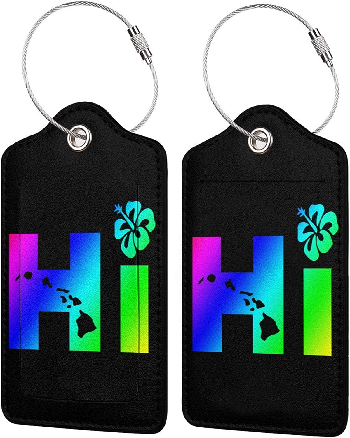 Hi Hawaiian Islands PU Leather Luggage Rectangle Tags Full Spasm Industry No. 1 price Priva