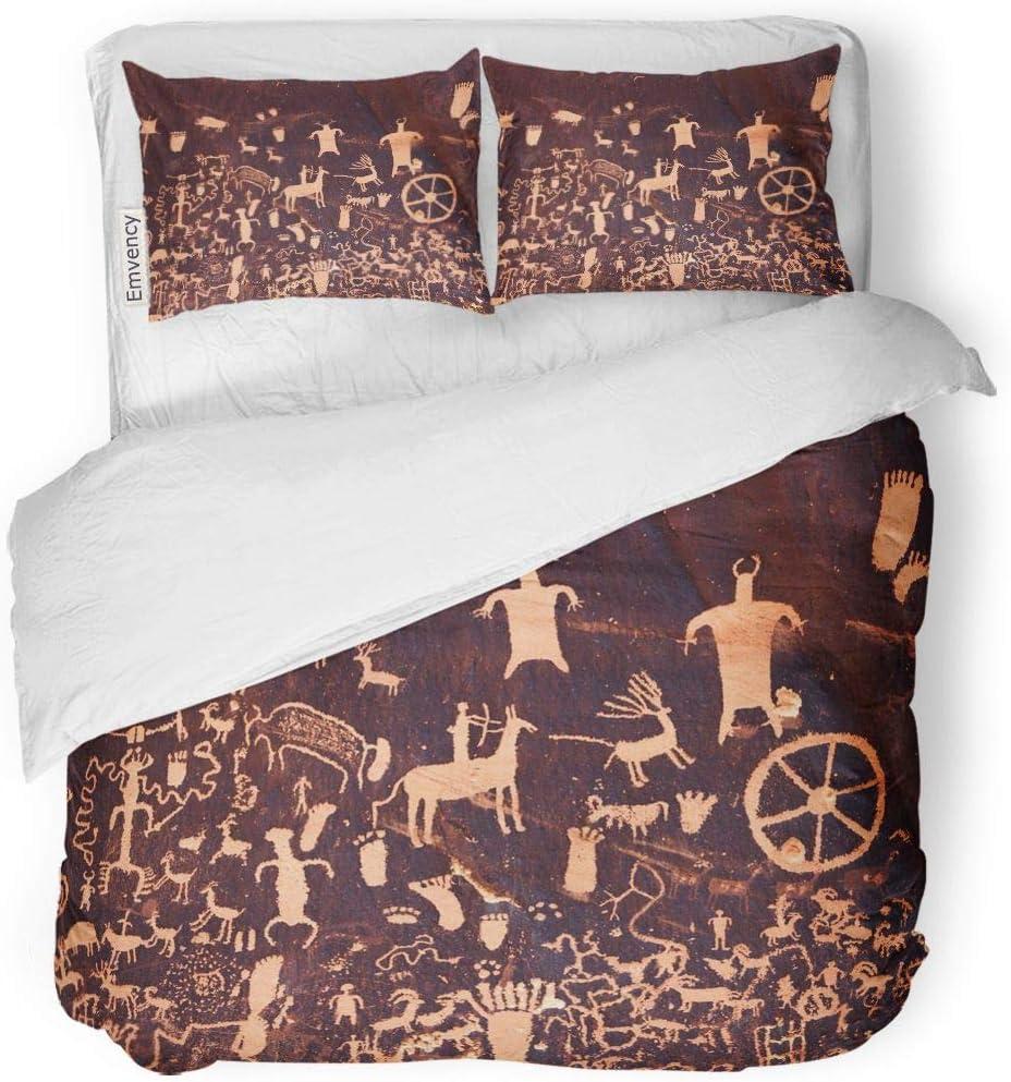 Tarolo Bedding Atlanta Mall Duvet Cover Set Anasazi Ne Petroglyphs at Max 56% OFF Ancient