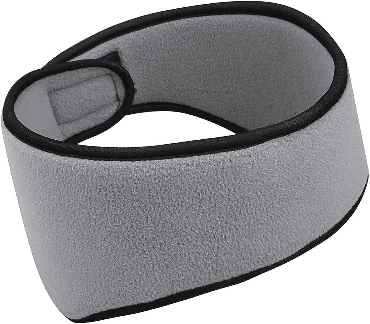 Freebily Ear Warmers Polar Fleece Headband Ear Muffs Winter Accessory Outdoor Sports Gray One Size