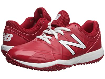 New Balance Kids 4040v5 Turf Baseball (Little Kid/Big Kid) (Red/White) Kids Shoes