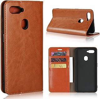 OPPO AX7 ケース【COKOVI】OPPO AX7 ケース カード収納 手帳型 スタンド機能付き 小銭収納 高級レザー 耐衝撃 (ブラウン)