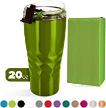 Primula Peak Hot or Cold Thermal Tumbler - Triple Layer Copper Technology Vacuum Sealed - with Matching Color Gift Box, 20 Ounce, Green Apple