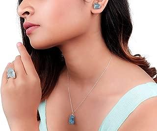 Natural Raw Aquamarine Crystal Pendant Necklace, Gift For Mom, Rough Aquamarine, Rough Aquamarine Rock, Silver Fill Chain, Natural Aquamarine Gemstone, Raw Gemstone Necklace, Dainty Jewelry